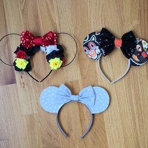 Accessories - Bundle of three Etsy Disney inspired Minnie ears